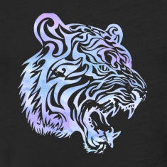 Watercolor Tiger Head Men's Tee