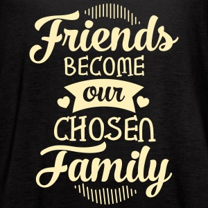 Friends Become Our Chosen Family Tanks - Women's Flowy Tank Top by Bella