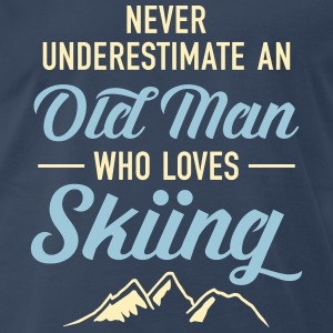 Never Underestimate An Old Man Who Loves Skiing T-Shirts - Men's Premium T-Shirt