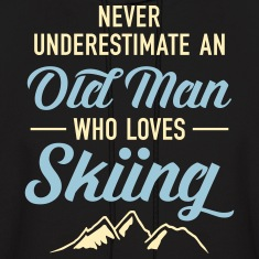 Never Underestimate An Old Man Who Loves Skiing Hoodies