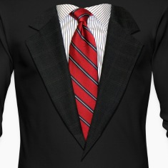 Suit and Tie Real Long Sleeve Shirts