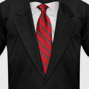 Suit and Tie Real T-Shirts - Men's T-Shirt by American Apparel