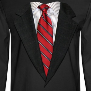 Suit and Tie Real Long Sleeve Shirts - Men's Long Sleeve T-Shirt