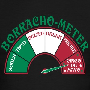 Cinco de Mayo Borracho Meter T-Shirts - Men's Ringer T-Shirt