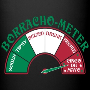 Cinco de Mayo Borracho Meter Mugs & Drinkware - Full Color Mug