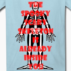 Spooky Scary Skeleton Kids Shirt