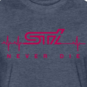 STi Never Die - Fitted Cotton/Poly T-Shirt by Next Level