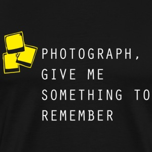 Photograph Black T-shirt  - Men's Premium T-Shirt