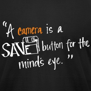 A camera is a save button t-shirt - Men's T-Shirt by American Apparel