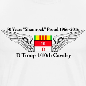 D Troop 50th Anniversary Premium T-Shirt in WHITE - Men's Premium T-Shirt