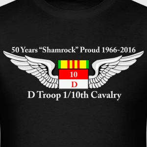 D Troop 50th Anniversary Standard T-Shirt BLACK - Men's T-Shirt