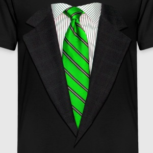 Realistic Suit and Tie Gr Kids' Shirts - Kids' Premium T-Shirt