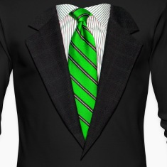Realistic Suit and Tie Gr Long Sleeve Shirts