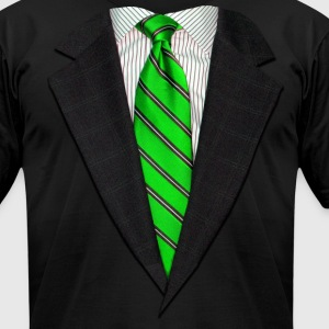 Realistic Suit and Tie Gr T-Shirts - Men's T-Shirt by American Apparel