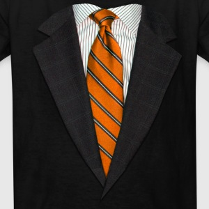 Orange Suit and Tie Kids' Shirts - Kids' T-Shirt