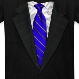 Suit and Tie Real Blue Kids' Shirts - Kids' T-Shirt