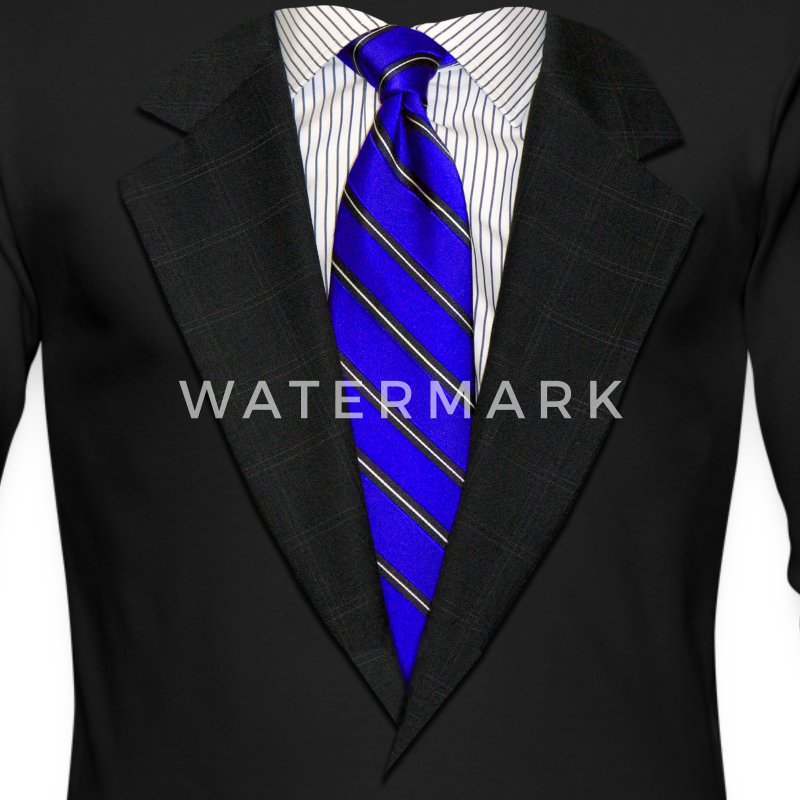 Suit and Tie Real Blue Long Sleeve Shirts - Men's Long Sleeve T-Shirt by Next Level