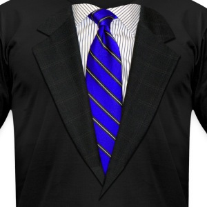 Suit and Tie Real Blue T-Shirts - Men's T-Shirt by American Apparel