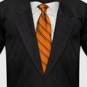 Orange Suit and Tie T-Shirts - Men's T-Shirt by American Apparel