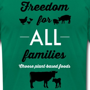 Freedom for ALL families - Men's T-Shirt by American Apparel