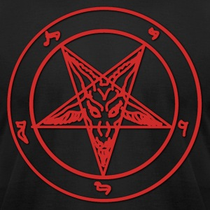 Red Baphomet T-Shirts - Men's T-Shirt by American Apparel