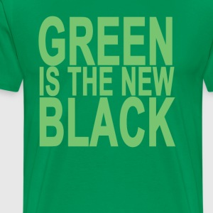 green_is_the_new_black - Men's Premium T-Shirt