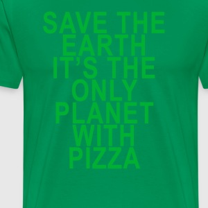 save_pizza_on_earth - Men's Premium T-Shirt