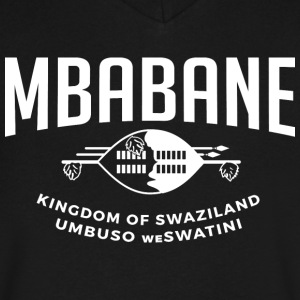 Mbabane T-Shirts - Men's V-Neck T-Shirt by Canvas
