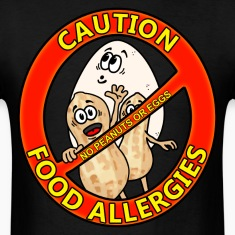 Food Allergy Alert Design T-Shirts