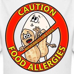 Food Allergy Alert Design Baby Bodysuits - Long Sleeve Baby Bodysuit