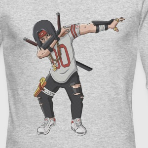 Crewneck Manga Ninja Dab - Men's Long Sleeve T-Shirt by Next Level