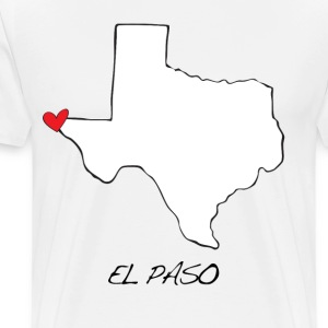 El Paso Texas Heart T-Shirts - Men's Premium T-Shirt