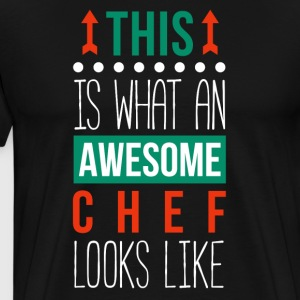 Awesome Chef Professions Culinary T-shirt T-Shirts - Men's Premium T-Shirt