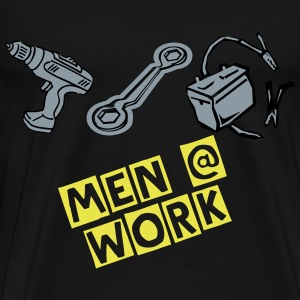 men at work - Men's Premium T-Shirt