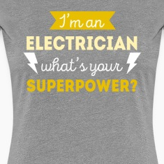 Electrician Superpower Professions T-shirt Women's T-Shirts