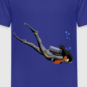Woman SCUBA Diver - Kids' Premium T-Shirt