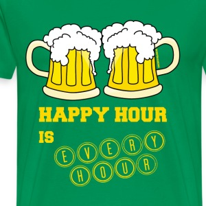 Happy Hour is Every Hour - Men's Premium T-Shirt