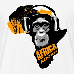 chimpanzee - Africa rocks T-Shirts - Fitted Cotton/Poly T-Shirt by Next Level