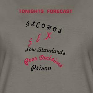 TONIGHTS FORECAST - Women's Premium T-Shirt