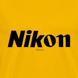 Nikon / Canon (Peace.) - Men's Premium T-Shirt