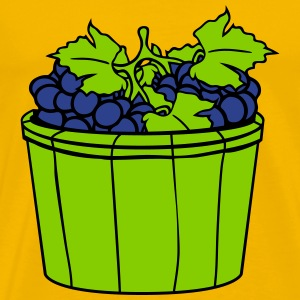 grape grapes harvest wine stomp tasty bucket vat o T-Shirts - Men's Premium T-Shirt
