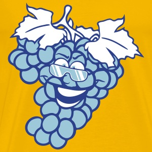 grapes grape harvesting tasty wine comic face cool T-Shirts - Men's Premium T-Shirt