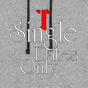 Single Dates Only Mens Colorblock Hoodie - Colorblock Hoodie
