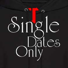 Single Dates Only Mens Hooded Sweatshirt