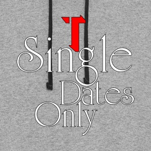 Single Dates Only Womens Colorblock Hoodie - Colorblock Hoodie
