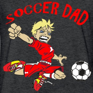 SOCCER DAD - Fitted Cotton/Poly T-Shirt by Next Level