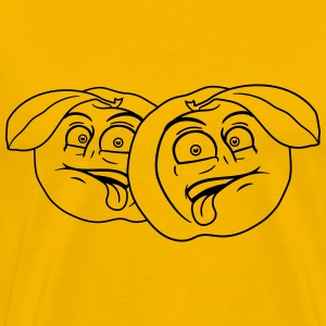 fruit comic cartoon face disgust funny team buddie T-Shirts - Men's Premium T-Shirt