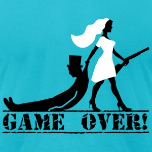 game over bride and groom T-Shirts - Men's T-Shirt by American Apparel