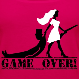 game over bride and groom Tanks - Women's Premium Tank Top
