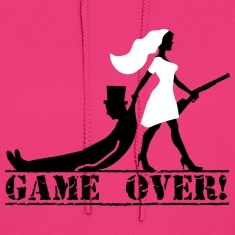 game over bride and groom Hoodies